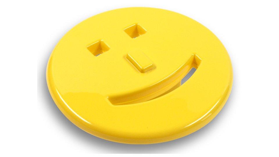 Möbelgriff Harrislee, Kinder,  Smilie Kunststoff glasiert - Gelb   70x39x25 LA:32