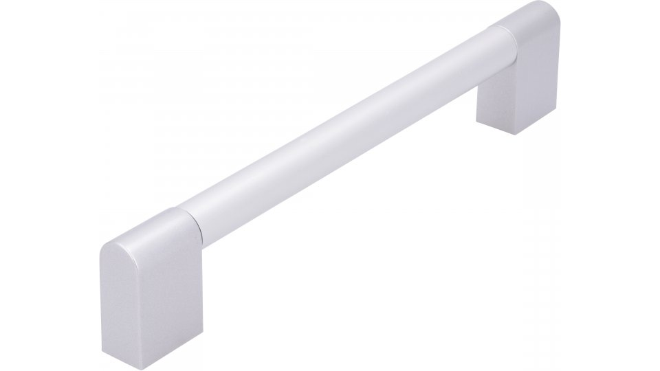 Möbelgriff Herxheim, Modern Aluminium - Kunststoff silber natur matt alufarbig | 0194x35x14 LA:160