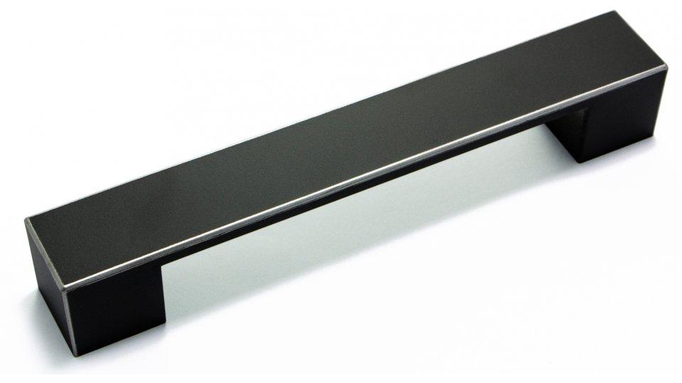 Möbelgriff Kirkel, Vintage Kunststoff - schwarz-silber | 0164x25x25 LA:128
