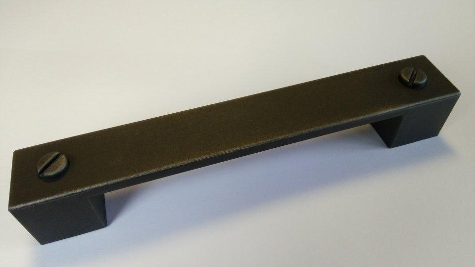 Möbelgriff Kirkel, Vintage Kunststoff - grau-silber-schraube, Kunststoff - grau-silber | 0164x25x25 LA:128
