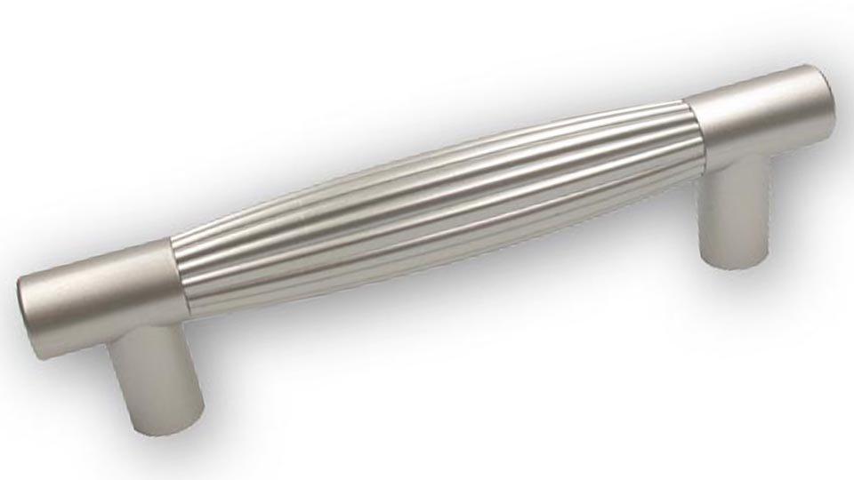 Möbelgriff Köln, Modern Kunststoff metallisiert - Nickel, Kunststoff metallisiert - Nickel | 127x18x33 LA:96