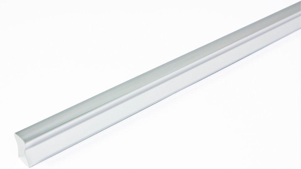 Möbelgriff Königsbach, Design,  Modern Kunststoff Metallfolieneffekt - Silber glänzend   340x12x18 LA:160 x 2