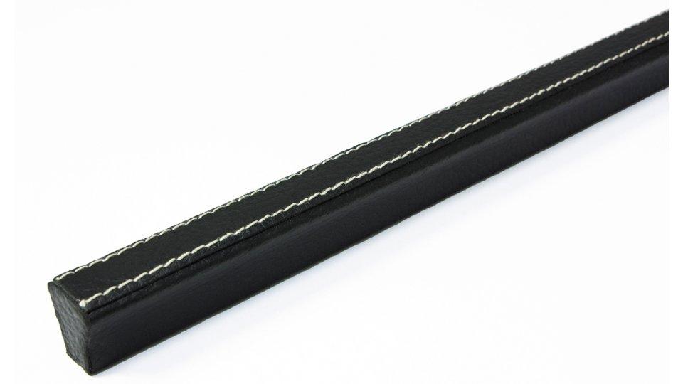 Möbelgriff Korb, Design,  Modern Lederstruktur - Schwarz   342x20x22 LA:160 x 2
