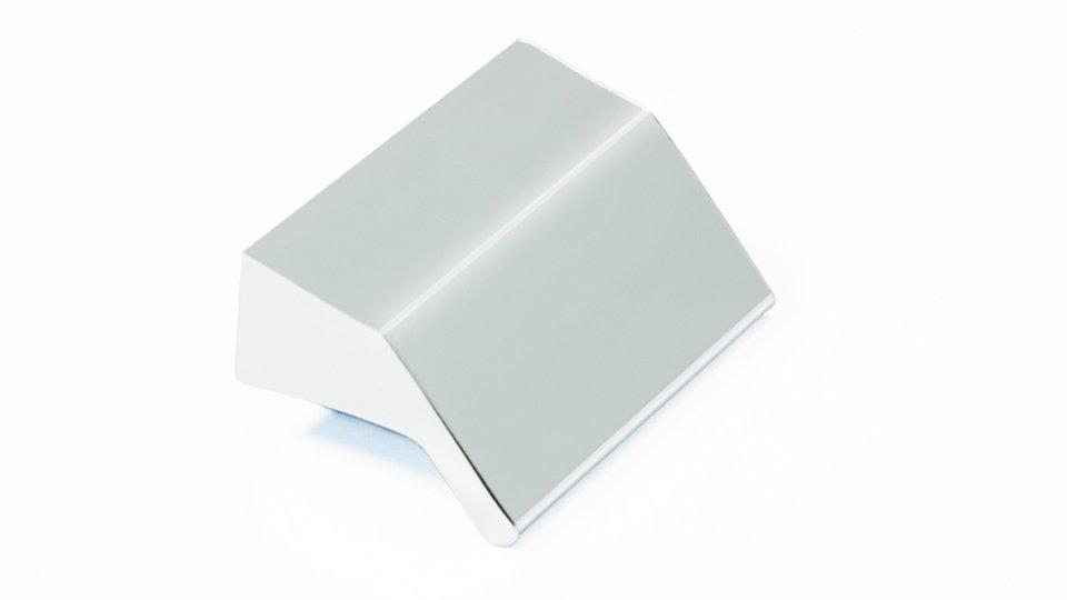 Möbelgriff Laubach, Design,  Modern Kunststoff Metallfolieneffekt - Silber glänzend | 35x14x23 LA:16