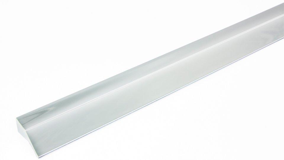 Möbelgriff Laubach, Design,  Modern Kunststoff Metallfolieneffekt - Silber glänzend | 340x14x23 LA:160 x 2