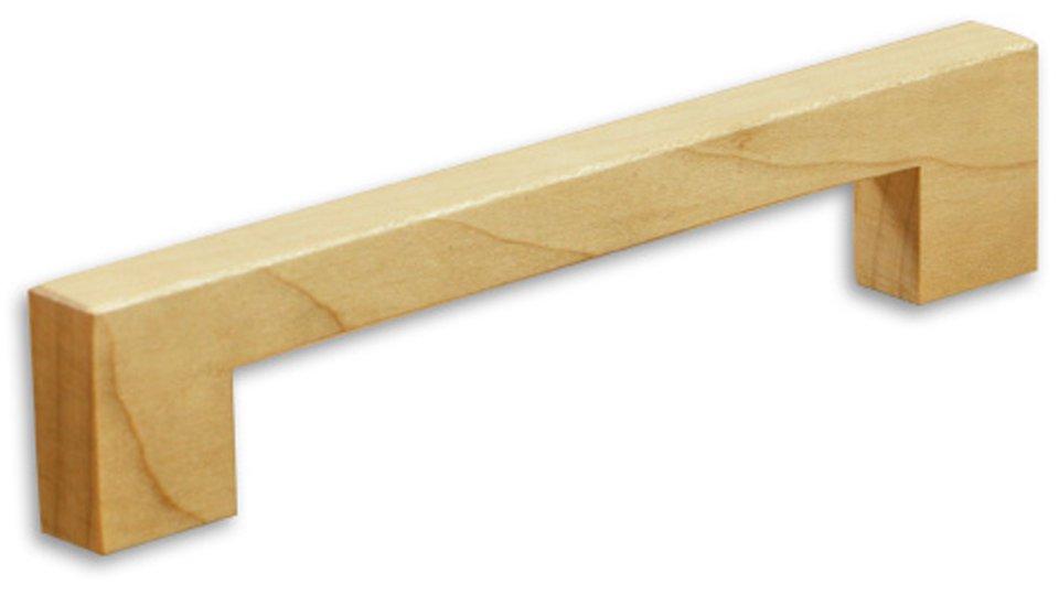 Möbelgriff Linkenheim-Hochstädten, Schlicht Holz - Ahorn natur lackiert | 148x12x30 LA:128