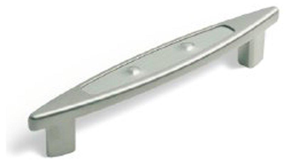 Möbelgriff Maintal, Design Druckguss - Kunststoff matt vernickelt edelstahl | 0160x26x24 LA:128