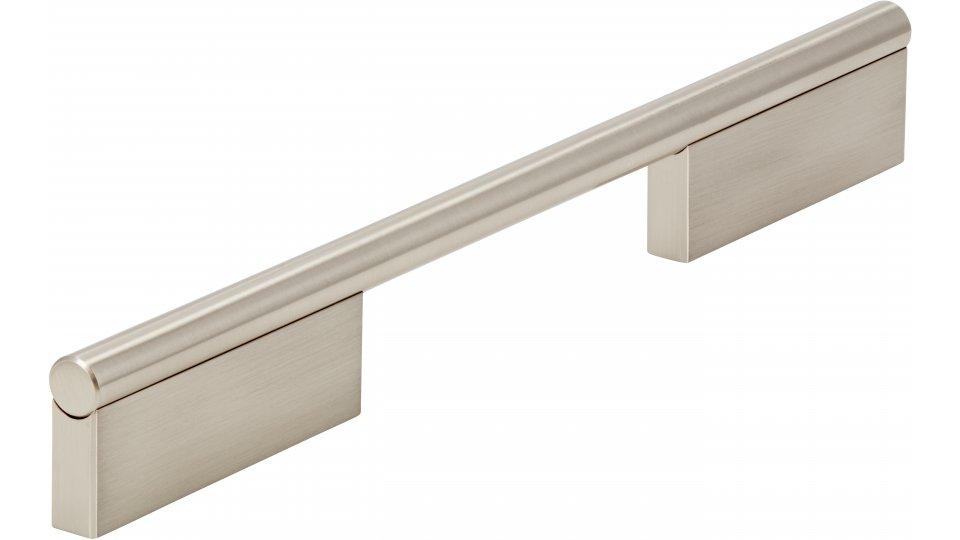 Möbelgriff Oberndorf, Modern,  Design Zinkdruckguß - Vernickelt feingeschliffen | 252x11x32 LA:128 und 224