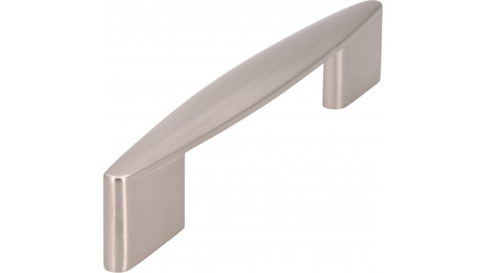 Möbelgriff Parchim, Modern Druckguss vernickelt feingeschliffen | 0152x30x20 LA:96 und 128
