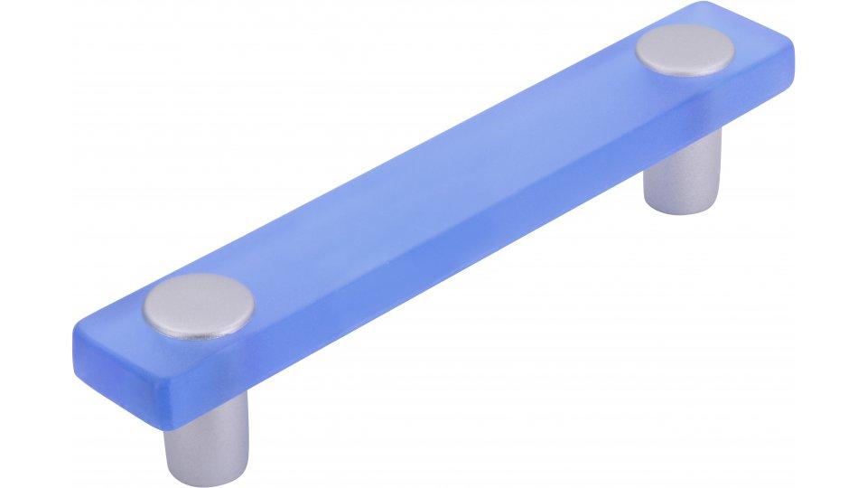 Möbelgriff Penig, Kinder Kunststoff glaseffekt hellblau metallisiert weißaluminium | 0126x26x20 LA:96