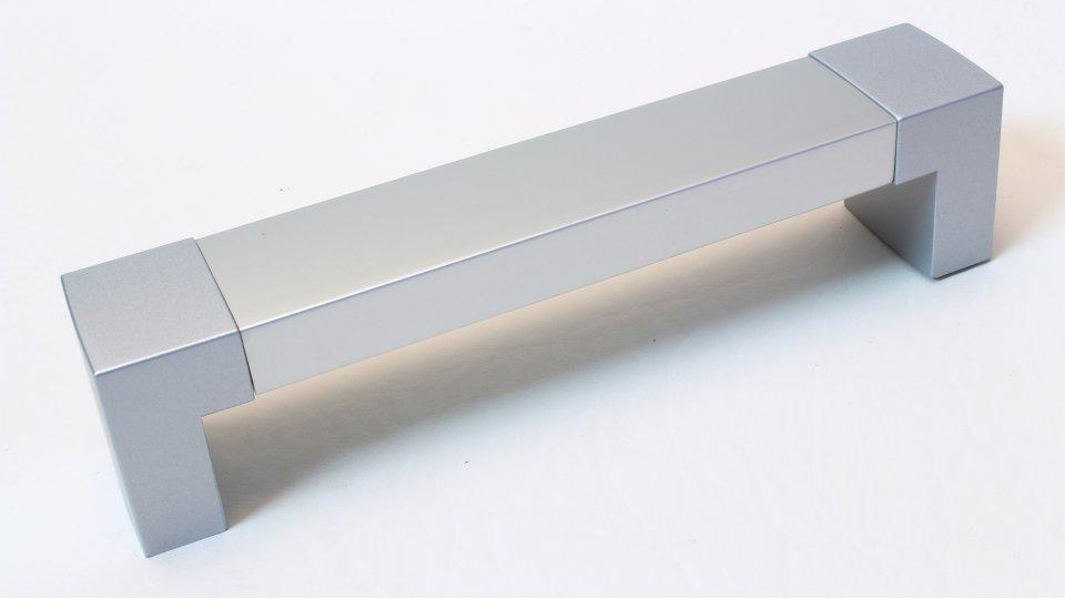 Möbelgriff Rangsdorf, Schlicht Aluminium - Kunststoff silber natur matt metallisiert weißaluminium | 0140x32x26 LA:128