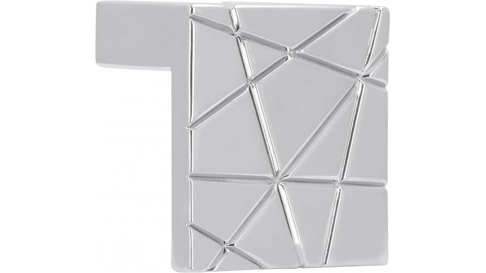 Möbelgriff Rehlingen-Siersburg, Design Zinkdruckguß - Chrom glänzend | 39x39x23 LA:32
