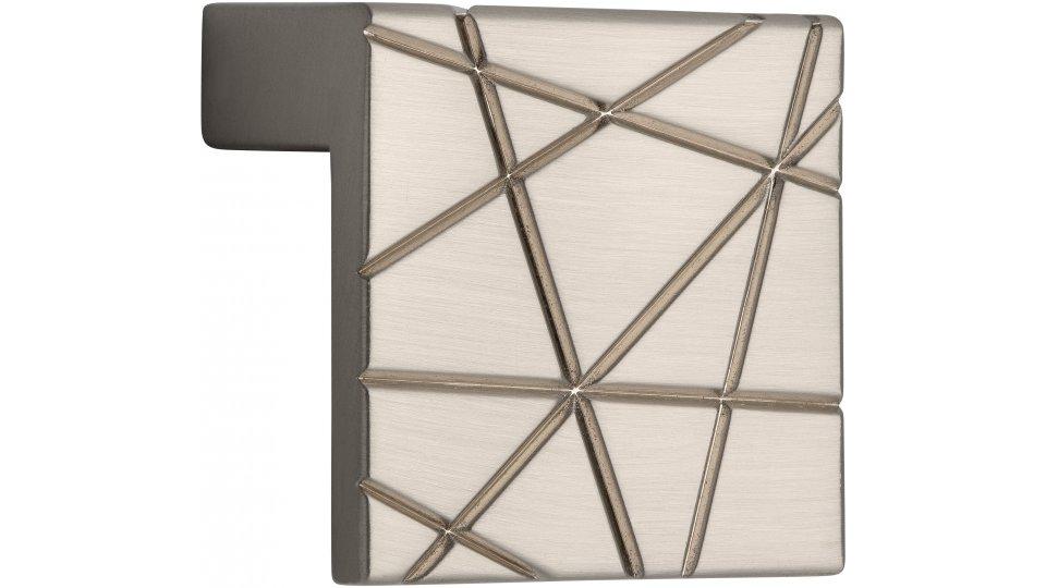 Möbelgriff Rehlingen-Siersburg, Design Zinkdruckguß - Vernickelt feingeschliffen   39x39x23 LA:32