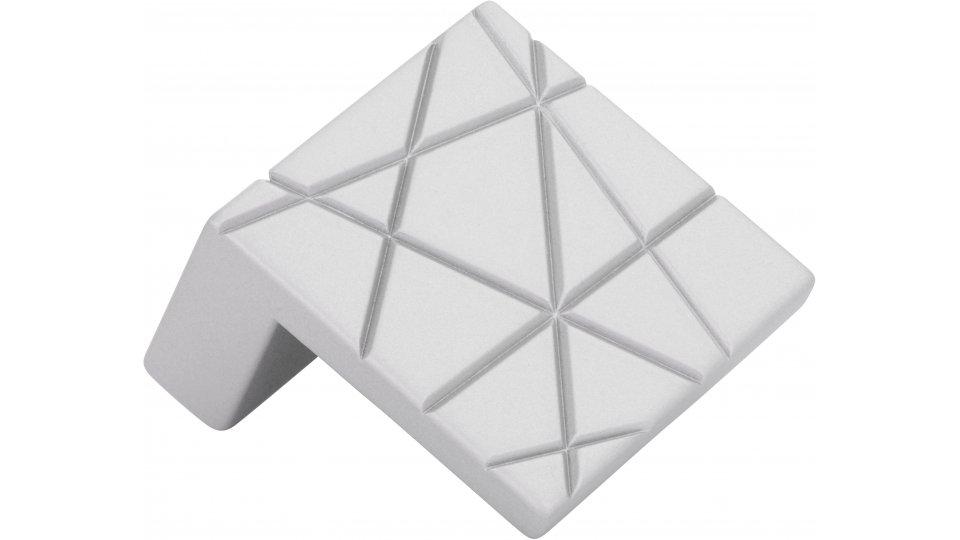 Möbelgriff Rehlingen-Siersburg, Design Zinkdruckguß pulverbeschichtet - Alufarbig | 0039x39x23 LA:32
