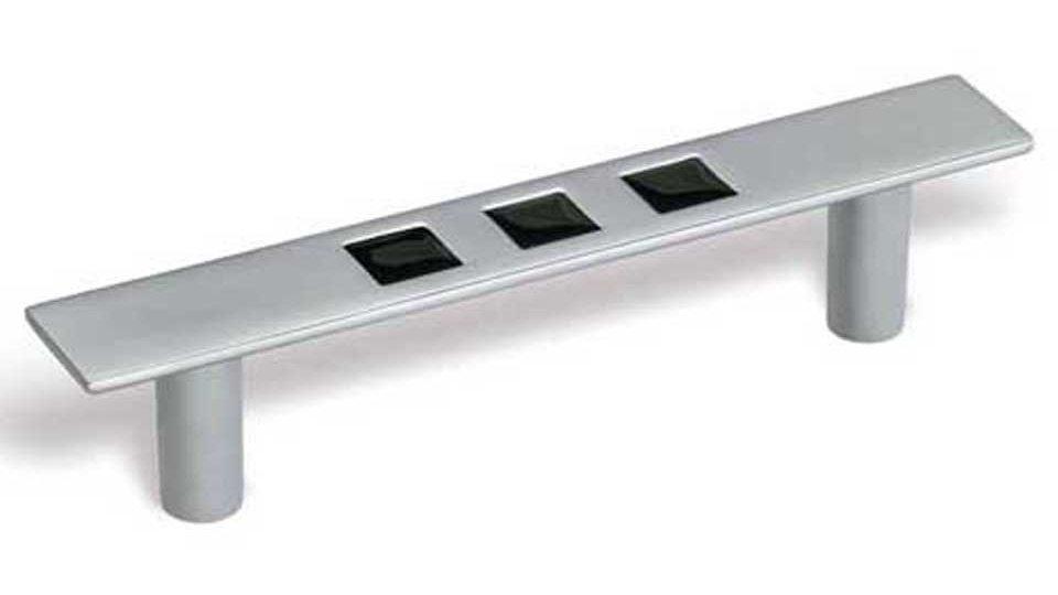 Möbelgriff Reinbeck, Modern Zinkdruckguß - Chrom matt, Zinkdruckguß - Schwarz | 134x21x28 LA:96