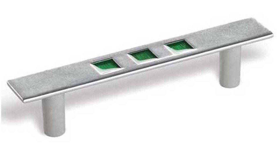 Möbelgriff Reinbeck, Modern Zinkdruckguß - Zink lackiert, Zinkdruckguß - Grün | 134x21x28 LA:96