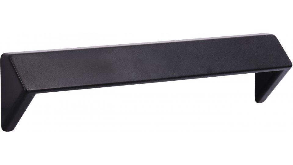 Möbelgriff Rosengarten, Eckig Druckguss schwarz matt pulverbeschichtet | 0168x23x39 LA:160
