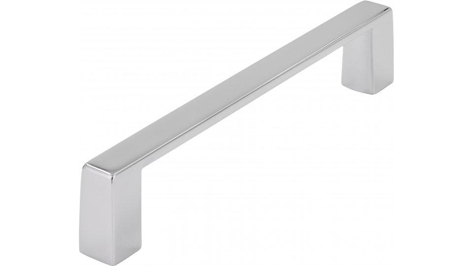 Möbelgriff Schönebeck, Schlicht Zinkdruckguß - Chrom glänzend | 111x10x21 LA:102