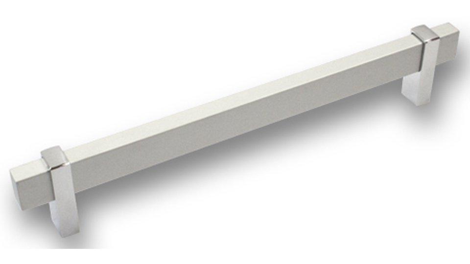 Möbelgriff Schrobenhausen, Modern Aluminium - Druckguss silber natur matt chrom glänzend | 0232x42x14 LA:192