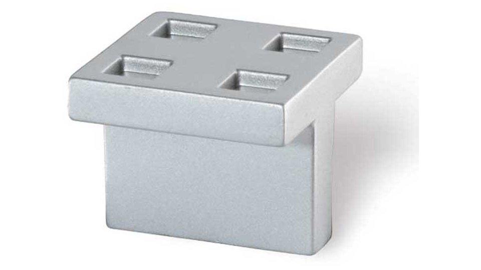 Möbelgriff Senden, Design Druckguss alufarbig pulverbeschichtet | 0030x25x30 LA:16