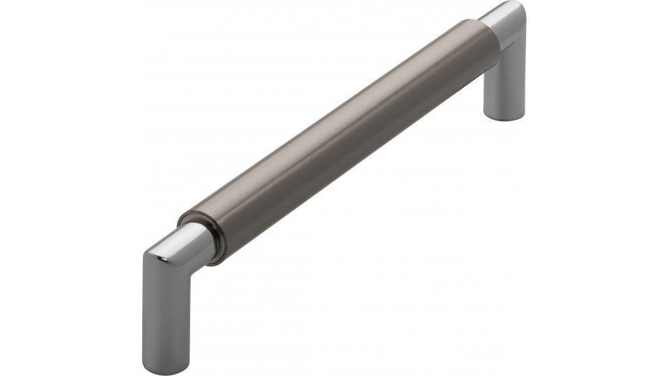 Möbelgriff Straelen, Modern,  Design Zinkdruckguß - Vernickelt feingeschliffen, Zinkdruckguß - Chrom glänzend | 172x16x37 LA:160