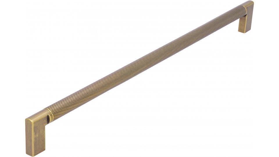 Möbelgriff Threesixty, Vintage Aluminium - Druckguss messingfarbig getrommelt matt messingfarbig getrommelt matt | 0334x32x12 LA:320