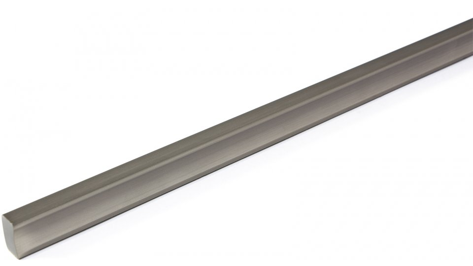 Möbelgriff Veitshöchheim, Modern,  Design Kunststoff Metallfolieneffekt - edelstahleffekt | 0246x14x8 LA:192