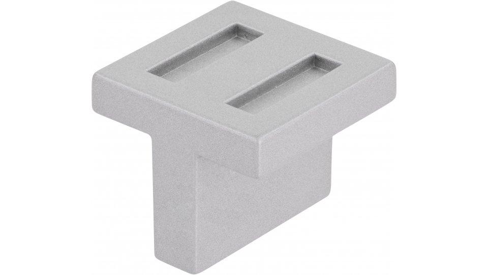 Möbelgriff Vreden, Design Druckguss alufarbig pulverbeschichtet | 0030x25x30 LA:16