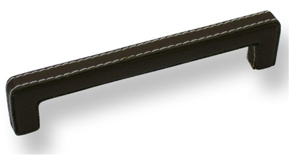 Möbelgriff Wallerfangen, Modern,  Design Lederstruktur - Braun | 140x11x32 LA:128