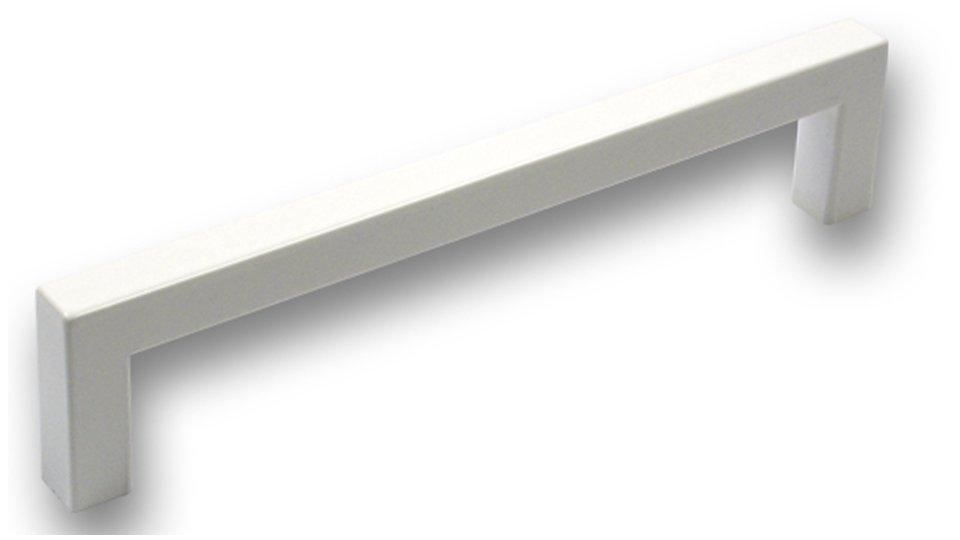 Möbelgriff Wallerfangen, Schlicht Kunststoff glasiert - Weiß hochglanz | 137x9x30 LA:128