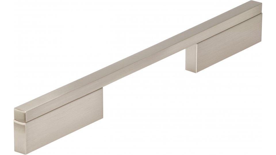 Möbelgriff Wendlingen, Modern Aluminium vernickelt feingeschliffen | 0252x29x10 LA:128 und 224