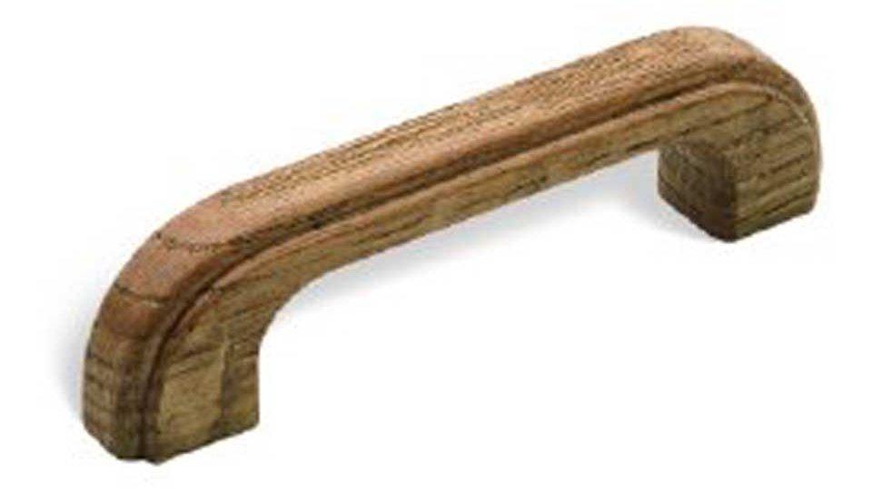 Möbelgriff Wernau, Schlicht Holz - Eiche gebeizt lackiert | 112x17x30 LA:96