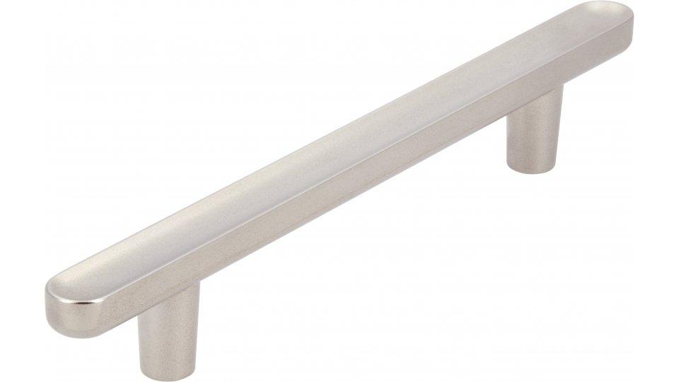 Möbelgriff Wernigerode, Schlicht Zinkdruckguß - Matt vernickelt | 146x11x22 LA:96