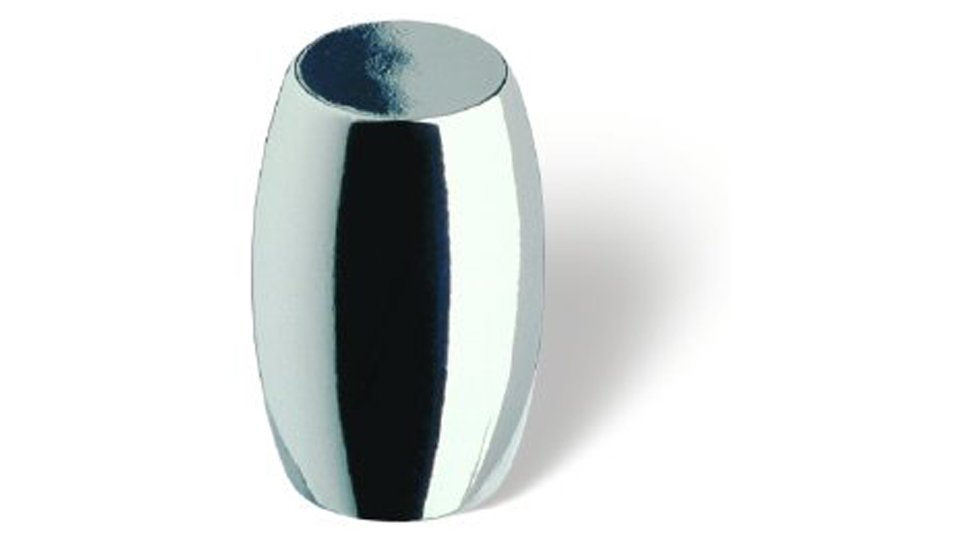 Möbelknopf Bensheim, Modern Zinkdruckguß - Chrom glänzend | 16x16x26