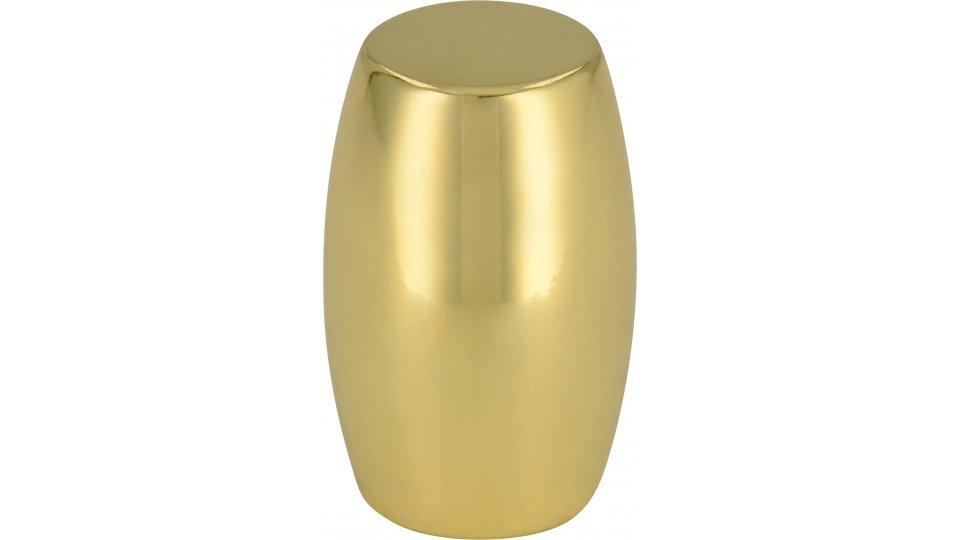 Möbelknopf Bensheim, Modern Zinkdruckguß - Glänzend vermessingt   16x16x26