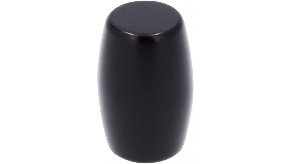 Möbelknopf Bensheim, Modern Druckguss schwarz matt pulverbeschichtet | 0016x26x16
