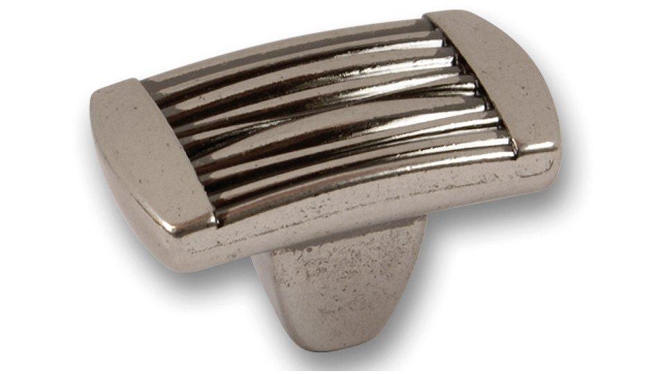 Möbelknopf Beverungen, Design Zinkdruckguß - altsilberfarbig | 0037x22x23