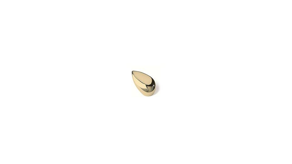 Möbelknopf Dettingen, Tropfen,  Modern Zinkdruckguß - Glänzend vermessingt | 0045x15x28