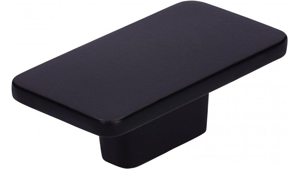 Möbelknopf Dissen, Schlicht,  Modern Druckguss schwarz matt pulverbeschichtet | 0058x22x33