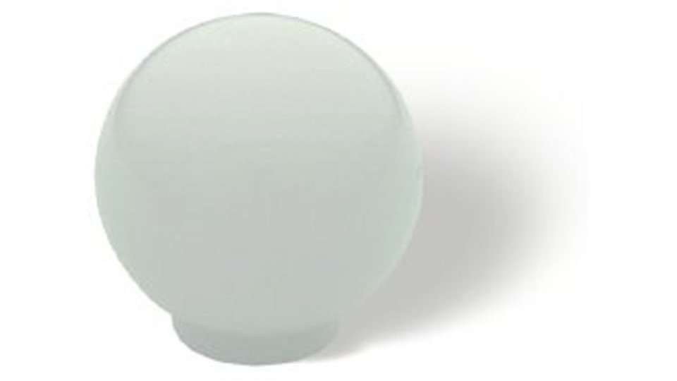 Möbelknopf Hamm, Schlicht,  Kugel Kunststoff Vollmaterial - Weiß | 34x34x35