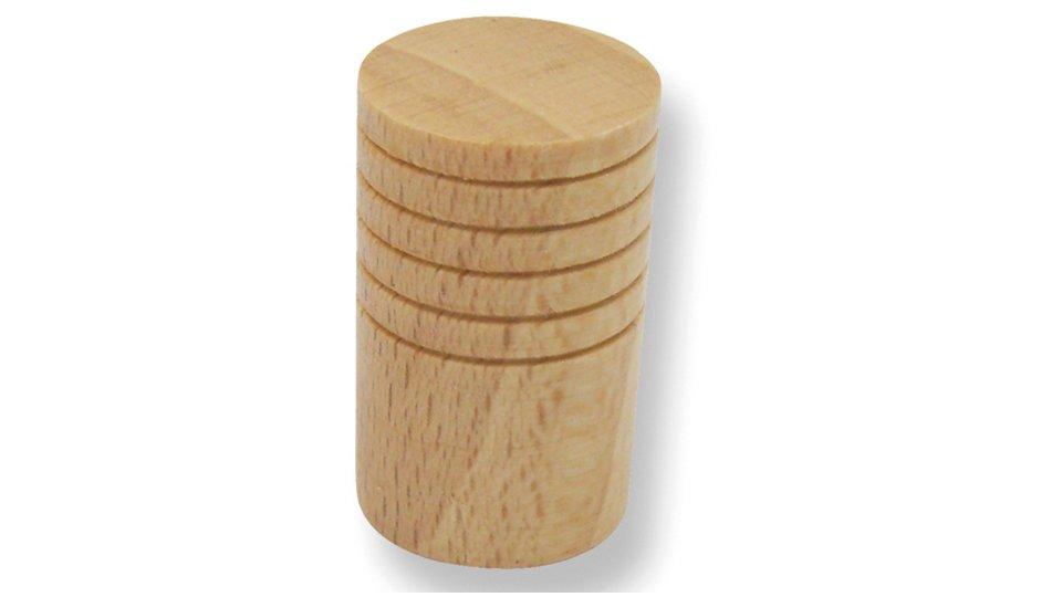 Möbelknopf Havixbeck, Schlicht Holz buche natur lackiert | 0018x30x18