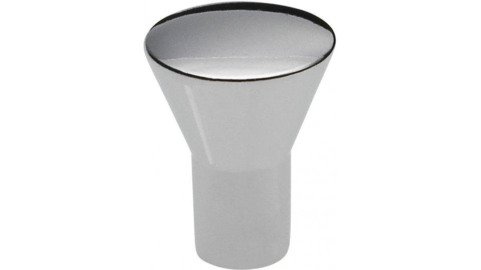Möbelknopf Hennef, Schlicht Zinkdruckguß - Chrom glänzend | 16x16x20