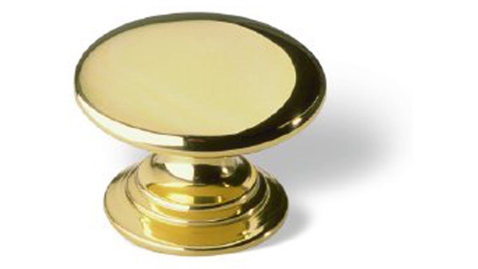 Möbelknopf Jena, Klassisch,  Vintage Messing poliert   0030x22x30