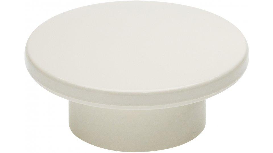 Möbelknopf Lüchow, Schlicht Kunststoff - Weiß | 47x47x20