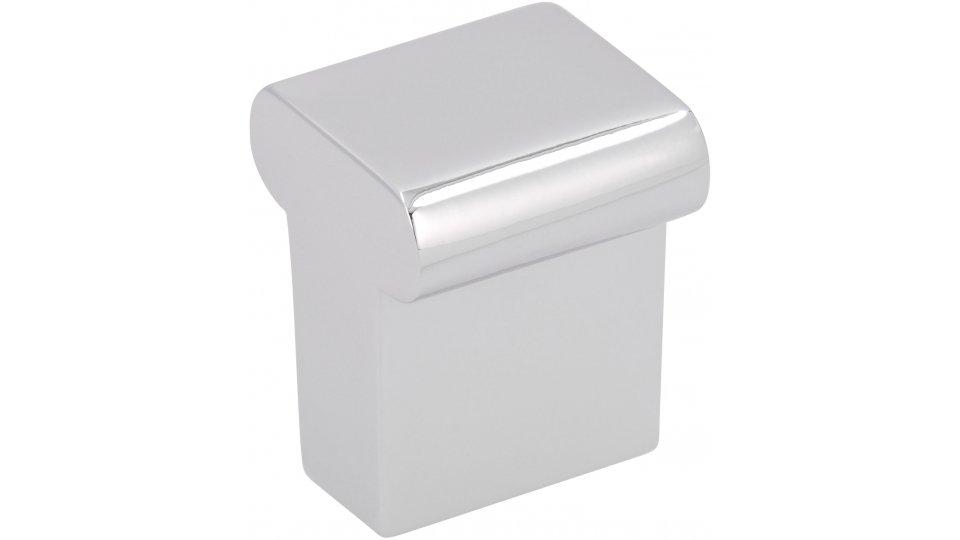 Möbelknopf Meinerzhagen, Schlicht Zinkdruckguß - Chrom glänzend | 16x16x20