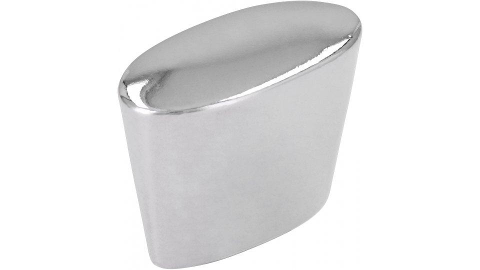 Möbelknopf Melle, Schlicht Zinkdruckguß - Chrom glänzend | 28x14x20