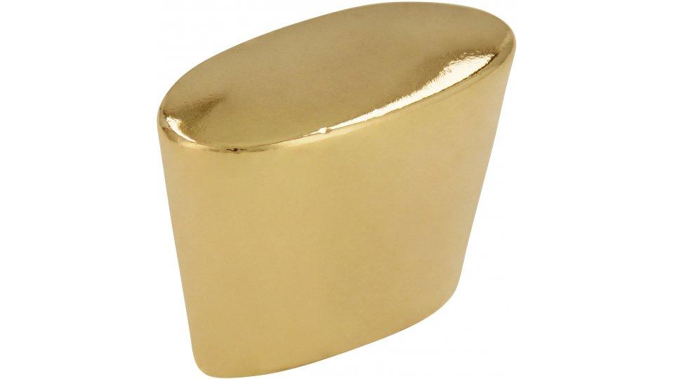 Möbelknopf Melle, Klassisch,  Vintage Zinkdruckguß - Glänzend vermessingt | 28x14x20