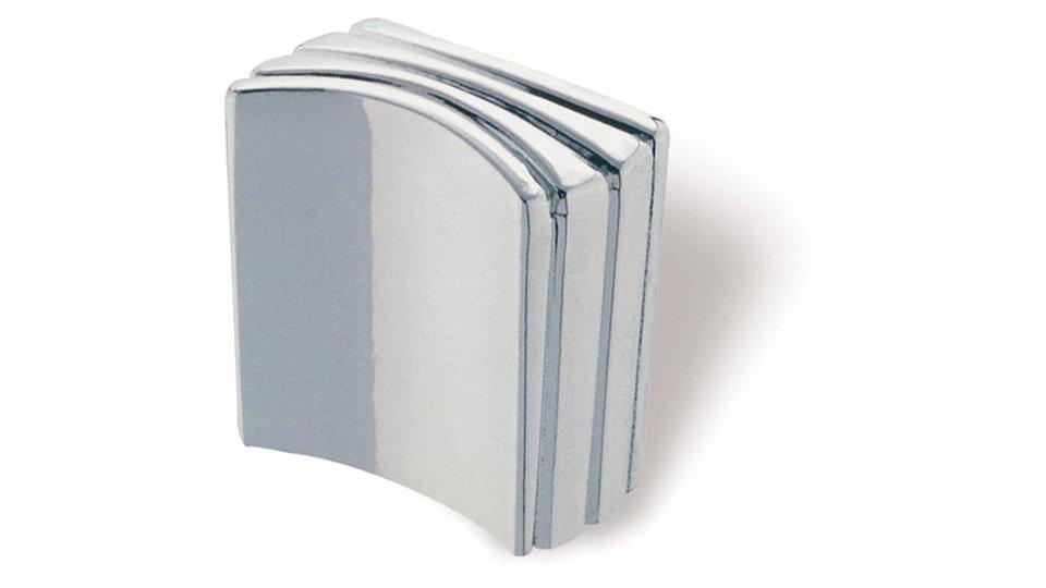 Möbelknopf Mosbach, Design Zinkdruckguß - Chrom glänzend | 26x14x27