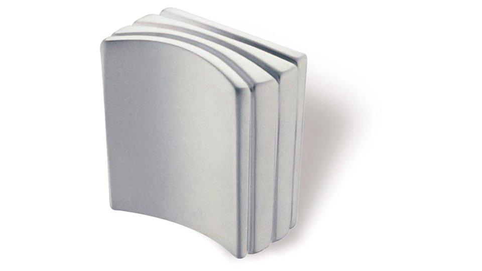 Möbelknopf Mosbach, Design Zinkdruckguß - Chrom matt | 26x14x27