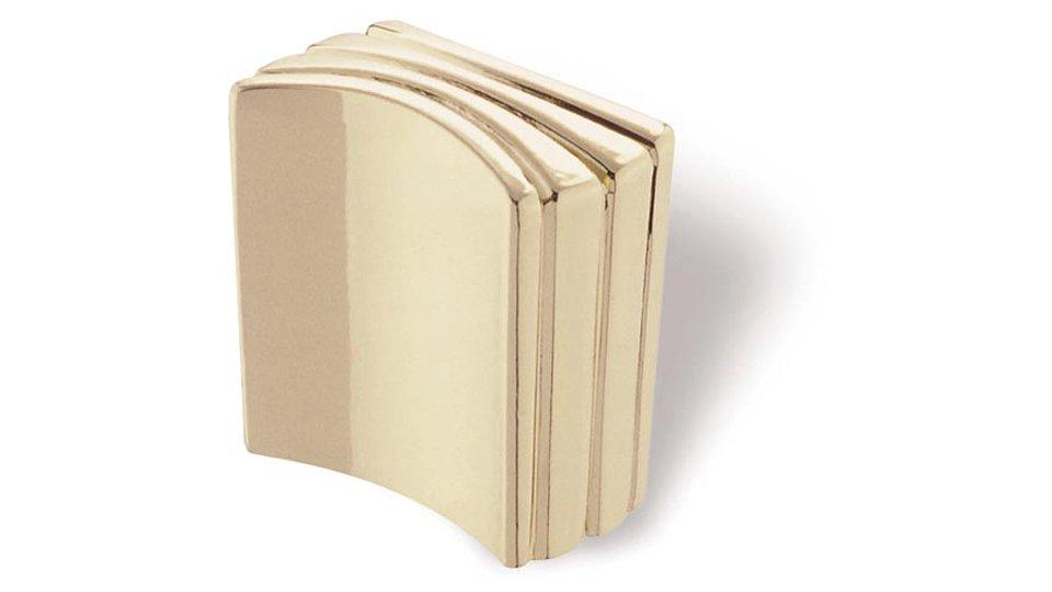Möbelknopf Mosbach, Design Zinkdruckguß - Glänzend vermessingt | 26x14x27